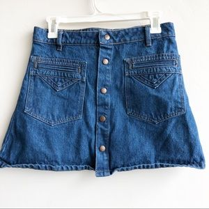 Objects Without Meaning For UO Denim Button Skirt